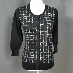 Ann Taylor XS Cardigan Sweater Fitted Cotton